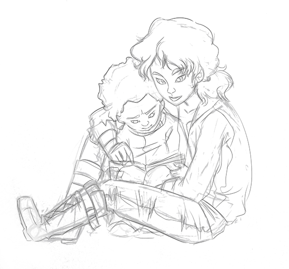clementine and aj (sketch)